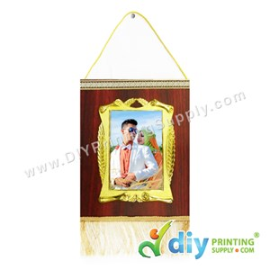 Hanging Plaque With Gold Frame & Aluminium Board (Small) (15 X 20cm)