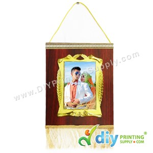 Hanging Plaque With Gold Frame & Aluminium Board (Large) (20 X 25cm)