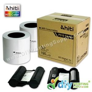 "Hiti Thermal Ribbon & Photo Paper 5R (5"" X 7"") (190 Prints X 2 Rolls) [For Hiti P510L Only]"