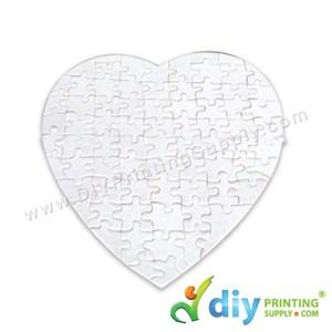 Jigsaw Puzzle (Love) (Sparkling) (White) (75 Pcs/Sheet)