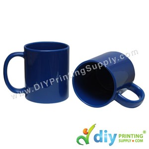 Laser Colour Mug (Full Blue) (11oz) (Using Laser Transfer Paper) With White Box