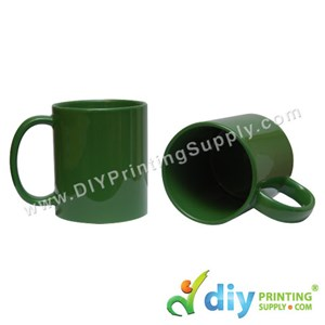 Laser Colour Mug (Full Green) (11oz) (Using Laser Transfer Paper) With White Box