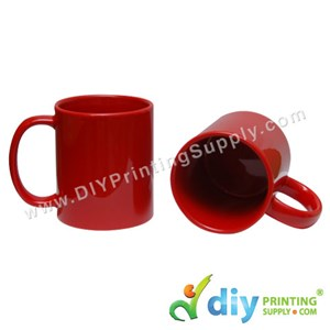 Laser Colour Mug (Full Red) (11oz) (Using Laser Transfer Paper) With White Box