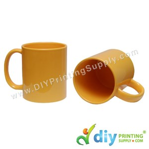 Laser Colour Mug (Full Yellow) (11oz) (Using Laser Transfer Paper) With White Box