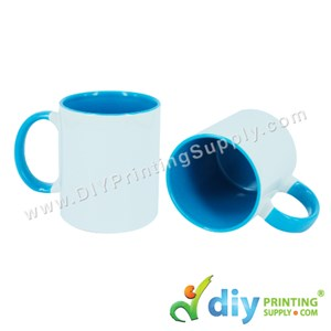 Colour Mug (Inner Rim) (Blue) (11oz) With Gift Box