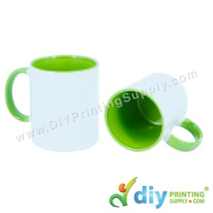 Colour Mug (Inner Rim) (Green) (11oz) With Gift Box