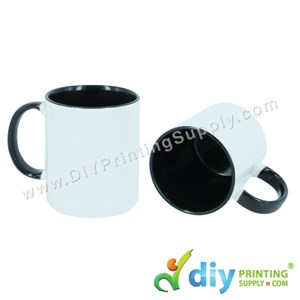 Colour Mug (Inner Rim) (Black) (11oz) With Gift Box