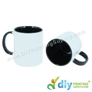 Colour Mug (Inner Rim) (Black) (11oz) With Gift Box