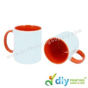 Colour Mug (Inner Rim) (Orange) (11oz) With Gift Box
