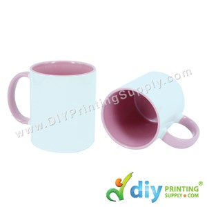 Colour Mug (Inner Rim) (Pink) (11Oz) With Gift Box