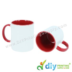 Colour Mug (Inner Rim) (Red) (11oz) With Gift Box