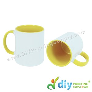 Colour Mug (Inner Rim) (Yellow) (11oz) With Gift Box
