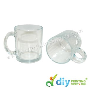 Glass Mug (Clear) (11oz) With White Box