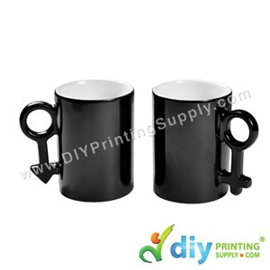 Magic Mugs (Black) (Couple Love) (10oz) With White Box
