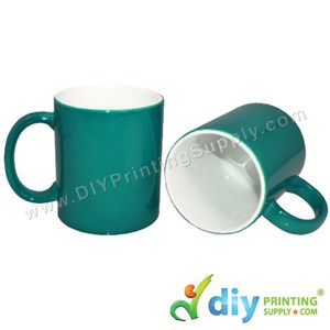 Magic Mug (Green) (Glossy) (11oz) With Gift Box