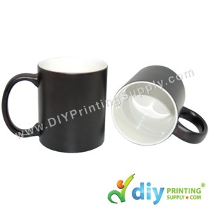 Magic Mug (Black) (Glossy) (11oz) With Gift Box