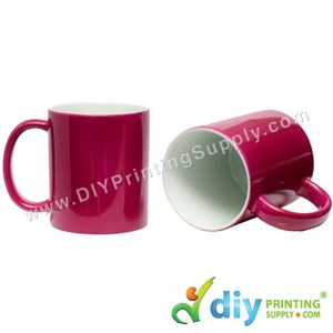 Magic Mug (Maroon) (11oz) With Gift Box
