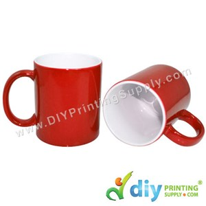 Magic Mug (Red) (11oz) With Gift Box