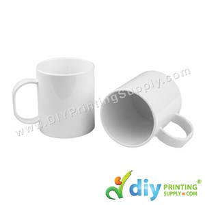 Polymer Mug (White) (11oz) With White Box [Using Insert Tool (Pink) ]