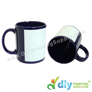Full Colour Mug (Dark Blue) (11oz) With Gift Box