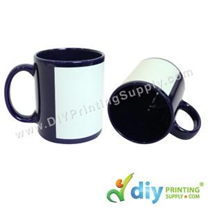 Full Colour Mug (Dark Blue) (11oz) With Gift Box
