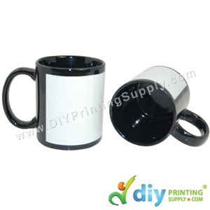 Full Colour Mug (Black) (Grade C) (11oz) [Yellowish] With Gift Box