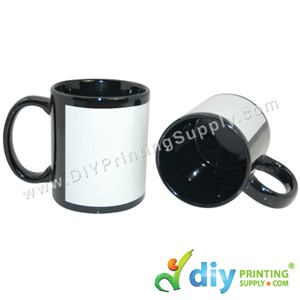 Full Colour Mug (Black) (11oz) With Gift Box