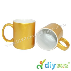 Sparkling Mug (Gold) (11oz) With White Box