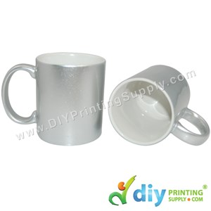 Sparkling Mug (Silver) (11oz) With White Box