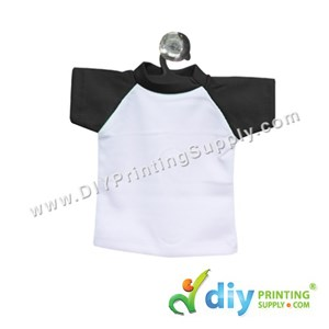 Mini Tee (Black) With Hanger & Suction Cup