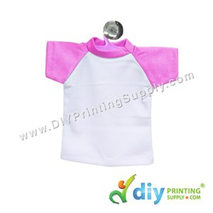 Mini Tee (Pink) With Hanger & Suction Cup