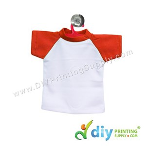Mini Tee (Red) With Hanger & Suction Cup