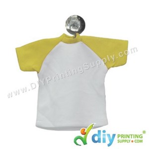 Mini Tee (Yellow) With Hanger & Suction Cup