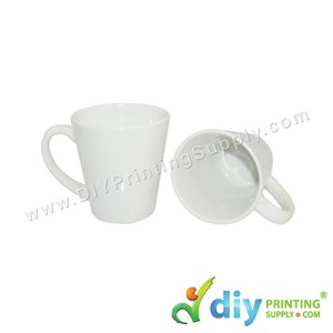 White Mug (Cone) (12oz) With White Box