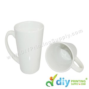 White Mug (Cone) (17oz) With White Box