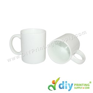 White Mug (Grade A) (Matte) (11oz) With Gift Box