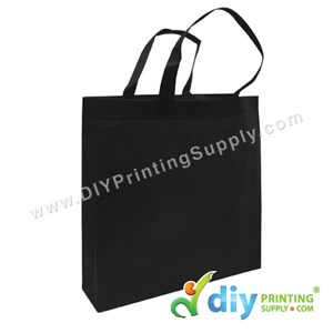 Non-Woven Bag (Large) (L35 X H35 X D9cm) (80Gsm) (Black)