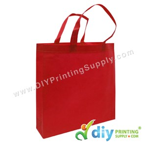Non-Woven Bag (Large) (L35 X H35 X D9cm) (80Gsm) (Red)