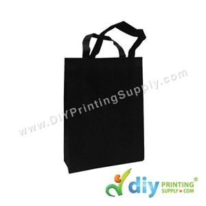 Non-Woven Bag (Small) (L25 X H33 X D7cm) (80Gsm) (Black)