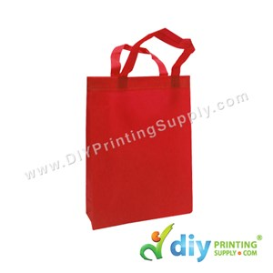 Non-Woven Bag (Small) (L25 X H33 X D7cm) (80Gsm) (Red)