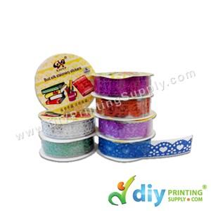 Sparkling Ribbon Sticker (Lace) (18mm X 1M) (7 Colours/Pkt)