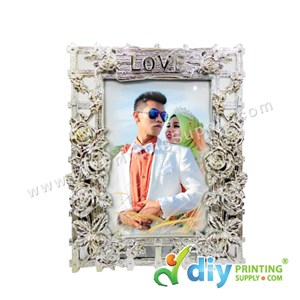 Photo Frame (Aluminium) [Love] (With Stand) (A6) (15 X 10cm)