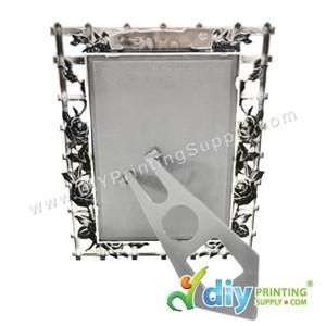 Photo Frame (Aluminium) [Love] (With Stand) (A6) (15 X 10cm)