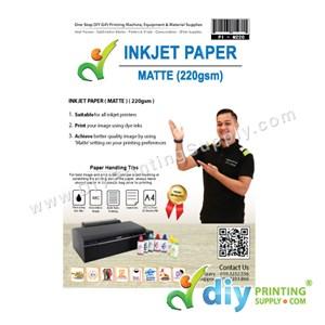 Inkjet Paper 220Gsm (Matte) (A4) (50 Sheets/Pkt) [2-Side Print]