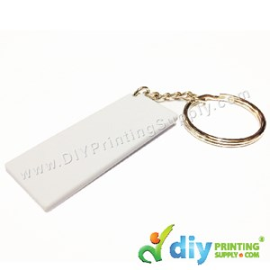 Mini Polymer Keychain (Rectangle) (55 X 22mm)