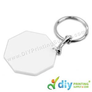 Polymer Keychain (Octangle) (43 X 43mm)