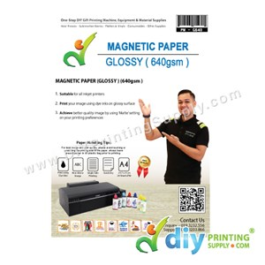 Magnetic Paper 640Gsm (Glossy) (A4) (0.3mm) (5 Sheets/Pkt)