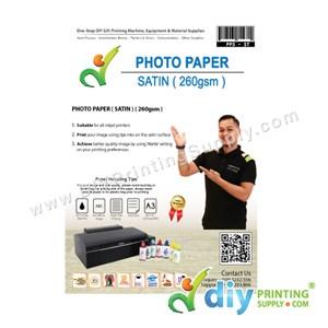 Photo Paper 260Gsm (Satin) (20 Sheets/Pkt) (A3)