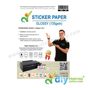 Sticker Paper 135Gsm (Glossy) (A3) (20 Sheets/Pkt)