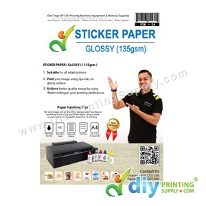 Sticker Paper 135Gsm (Glossy) (A4) (20 Sheets/Pkt)